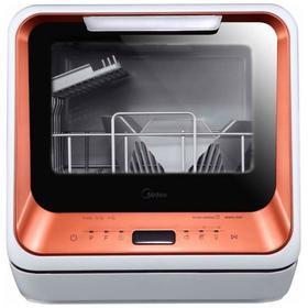 Посудомоечная машина Midea MCFD42900OR MINI, класс А, 2 комплекта, настольная, коралловая Ош