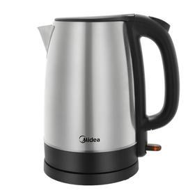 Чайник Midea MK-8029, металл, 1.7 л, 2200 Вт, серебристый