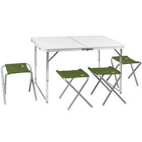 Набор мебели складной кемпинговый JUNGLE CAMP Event 95, цвет зелёный Ош
