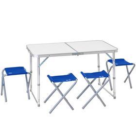 Набор мебели складной кемпинговый JUNGLE CAMP Event 95, цвет синий Ош