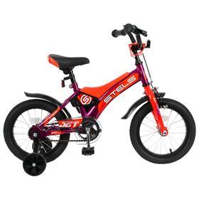 """Велосипед 14"""" Stels Jet, Z010, цвет фиолетовый/оранжевый"""