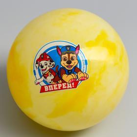 """Мяч детский Paw Patrol """"Вперед"""", 16 см, 60 гр, мрамор, МИКС"""