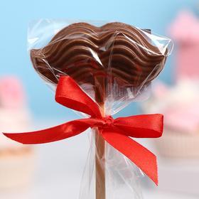 Шоколад фигурный «Усы на палочке», молочный, 15 г