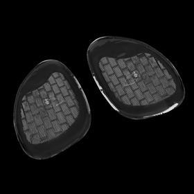 Полустельки для обуви, силиконовые, клеевая основа, с протектором, 8 × 6,5 см, пара, цвет прозрачный Ош