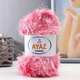 """Пряжа """"Травка Ayaz"""" 100% полиэстер 140м/100гр (3244 т.розовый)"""