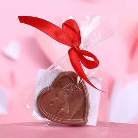 Шоколад фигурный «Сердечко с ангелочком», молочный, 7 г