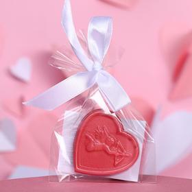 Шоколад фигурный «Сердечко с ангелочком», рубиновый, 7 г