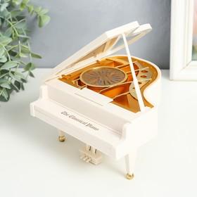купить Шкатулка музыкальная механическая Белый рояль