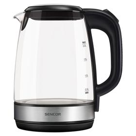 Чайник электрический Sencor SWK 2080BK, стекло, 2 л, 2200 Вт, черный