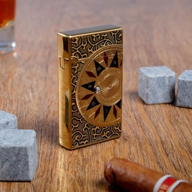 Зажигалка 'Компас' в картонной коробке, газ, 7х11 см Ош