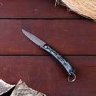 Нож складной без фиксатора, рукоять черная, бамбук