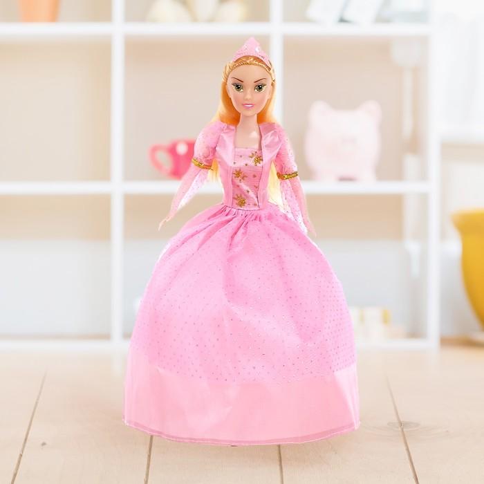 """Кукла модель """"Елизавета"""" с короной, в пышном платье, МИКС"""