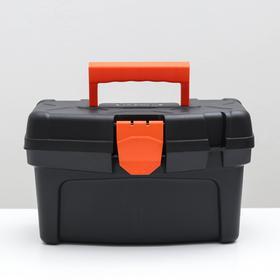 Ящик для инструментов Plastic Centre Master Economy, 12 л, чёрный оранжевый