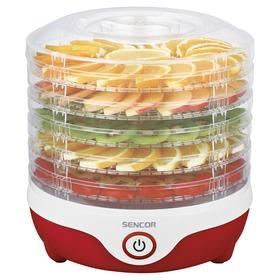 Сушилка для овощей и фруктов Sencor SFD 742RD, 240 Вт, 5 ярусов, бело-красная