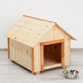 Будка для собак деревянная, крыша домик, 79 х 70 х 62 см Ош