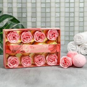 Набор 'С 8 Марта' мыльные цветы 8 шт, бомбочки для ванн 4 шт. Ош