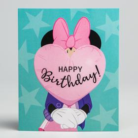 Открытка 'Happy Birthday', Минни Маус Ош