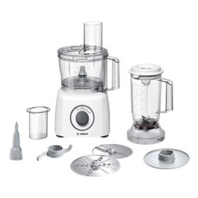 Кухонная машина Bosch MCM 3200W white, 800 Вт, 2.3/1 л, 2 скорости, 3 насадки, белая Ош