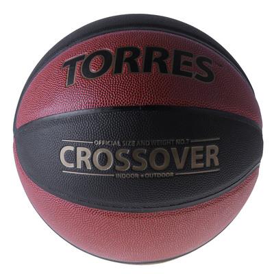 Мяч баскетбольный Torres Crossover, B30097, размер 7