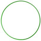 Обруч гимнастический, стальной, d=90 см, 900 г, цвет зелёный