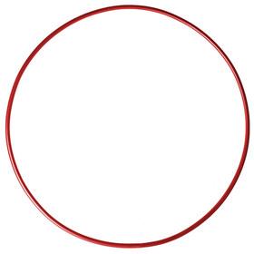 Обруч гимнастический, стальной, d=90 см, 900 г, цвет красный Ош