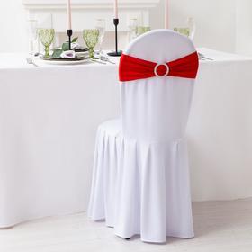 Декор для стула, цв.красный, 15*35 см, 100% п/э Ош