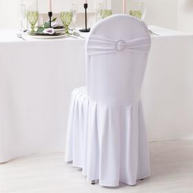Декор для стула, цв.серебро, 15*35 см, 100% п/э Ош
