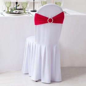 Декор для стула, цв.розовый, 15*35 см, 100% п/э Ош
