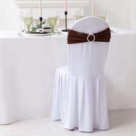Декор для стула, цв.коричневый, 15*35 см, 100% п/э Ош
