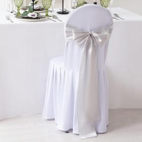 Декор для стула, цв.серебро, 14*275 см, 100% п/э Ош
