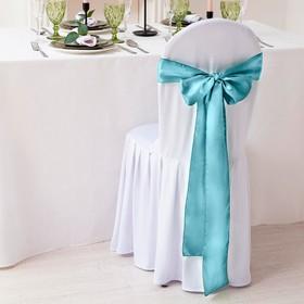 Декор для стула, цв.бирюзовый, 14*275 см, 100% п/э Ош