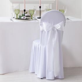 Декор для стула, цв.белый, 14*275 см, 100% п/э Ош