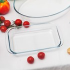 Блюдо для запекания прямоугольное Доляна, 1 л - Фото 5