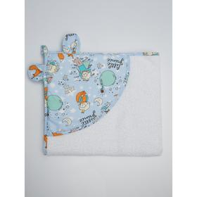 Полотенце детское с уголком «Маленький принц», размер 90х90 см, цвет белый