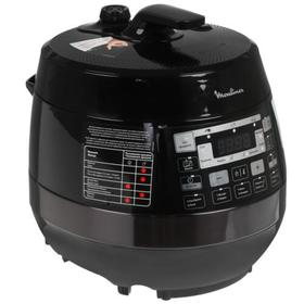 Мультиварка-скороварка Moulinex CE430832, 1000 Вт, 5 л, 33 программы, черная