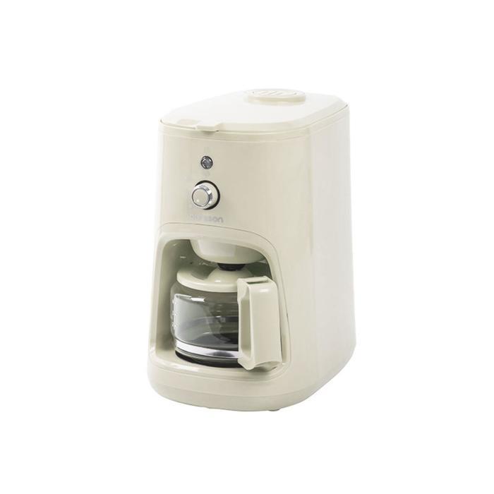 Купить со скидкой Кофеварка Oursson CM0400G/IV, капельная, 900 Вт, встроенная кофемолка, цвет слоновая кость