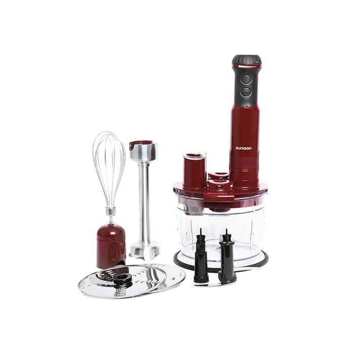 Купить со скидкой Блендер Oursson HB6040/DC, погружной, 600 Вт, 13 уровней мощности, бордовый