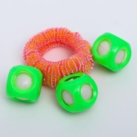 Погремушка - браслет «На ручку», 3 шарика