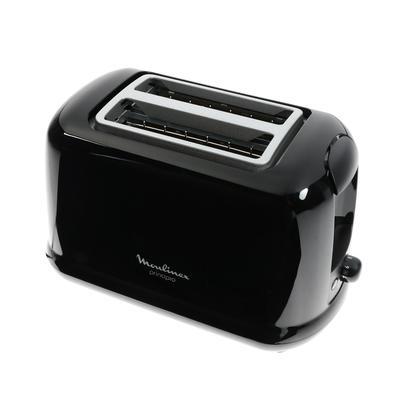 Тостер Moulinex LT160830, 700 Вт, 7 режимов прожарки, 2 тоста, черный