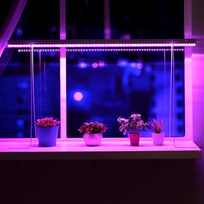 Светильник для растений, 14 Вт, 15 мкмоль/с, длина 900мм, вилка, высота установки 500 мм