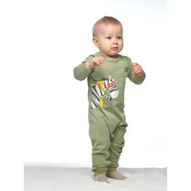 Комбинезон для мальчика, рост 68 см, цвет зелёный