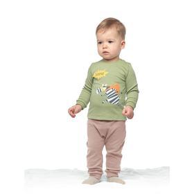 Брюки детские, рост 62 см, цвет бежевый