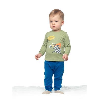 Брюки детские, рост 62 см, цвет синий - Фото 1