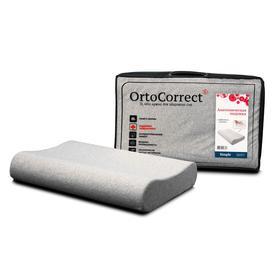 Анатомическая подушка OrtoCorrect Classic Simple M 58х37, валики 9/11
