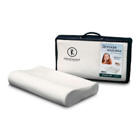 Анатомическая  подушка OrtoCorrect  Classic XS (детская) от 1-1,5 лет до 3-5 лет. 38х24, вал
