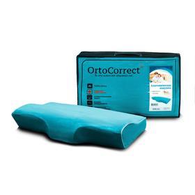Анатомическая  подушка OrtoCorrect IDEAL с центральной П-образной выемкой  58х32,высота вали