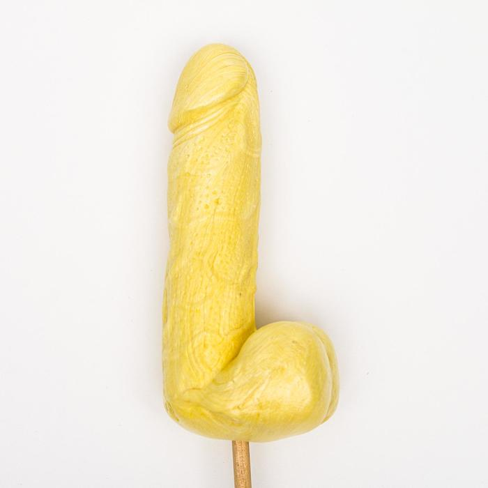 Карамель на палочке «Мега Мистер», жёлтый, 140 г