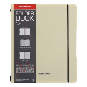 Тетрадь А5+ , 48 листов в клетку FolderBook Pastel, съемная пластиковая обложка, блок офсет, жёлтая