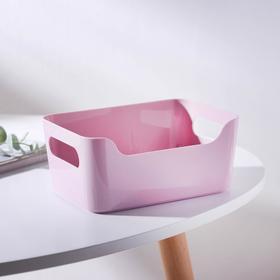 Корзина универсальная Бытпласт, 1,2 л, 17×12×7,5 см, цвет розовый