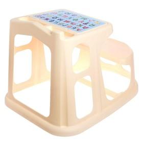 Стол-парта детская с аппликацией, 730х550х500 мм, цвет бежевый Ош